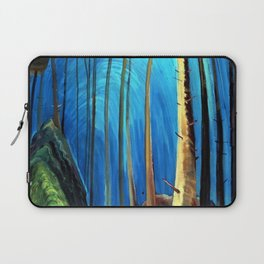 Big Sky Country, Forest Morning Blue portrait painting by Emily Carr Laptop Sleeve
