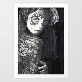 Sugar Skull Woman 3 Art Print