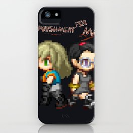 Mai and Lucy Pixel iPhone Case