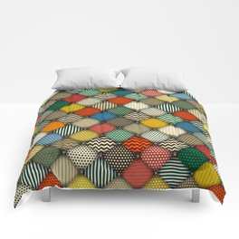 buttoned patches retro Comforters