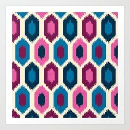 Jewel Tone Ikat Art Print