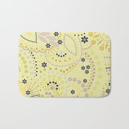 Placer dots , yellow Bath Mat