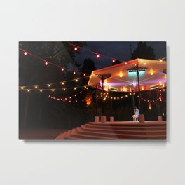 Bandstand in the park at night Metal Print