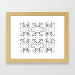 black-and-white abstract pattern Framed Art Print