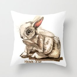 Sketch of Hawk-Eye Throw Pillow
