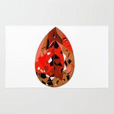 GEMS - red , velvet , orange , rubin Rug