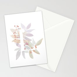 Rustic Farmhouse Monogram L - Leaves and Letters Stationery Cards