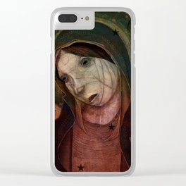 Celestial Sister Clear iPhone Case