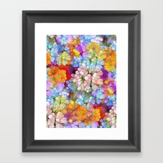 Rainbow Flower Shower Framed Art Print
