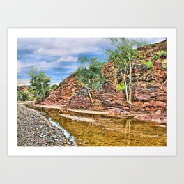 Rocks at Brachina Gorge, Flinders Ranges, Sth Australia Art Print