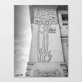 secession building detail bw vienna austria photo Canvas Print