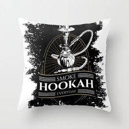 smoke Shisha every day water pipe Throw Pillow