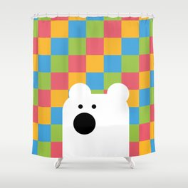 Zedl Ico Bear Shower Curtain