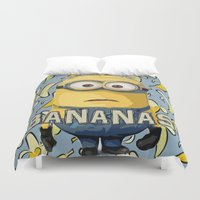 minion Duvet Covers featuring Minion by DisPrints
