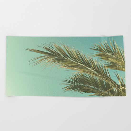 Autumn Palms II Beach Towel