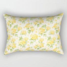 Modern  sunshine yellow green hortensia flowers Rectangular Pillow