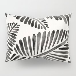Tropical Banana Leaves – Black Palette Pillow Sham