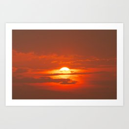 Sunset in Canada Art Print