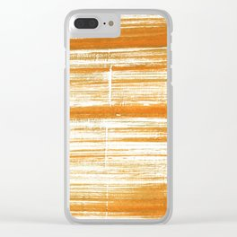 Tigers eye abstract Clear iPhone Case