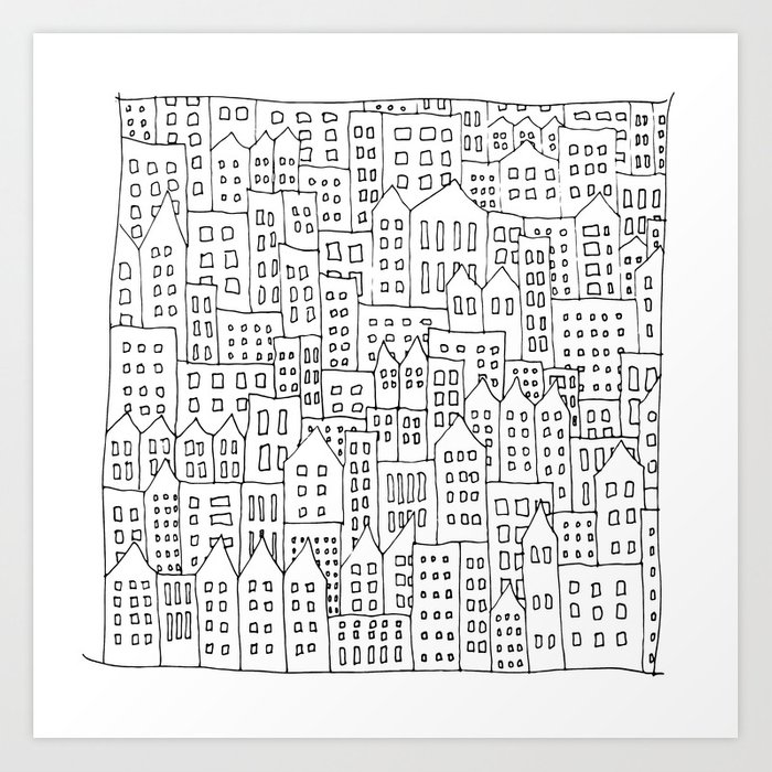 Coit City Pattern 1 Art Print