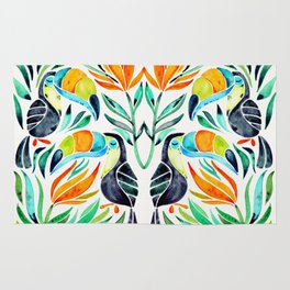 Tropical Toucans Rug