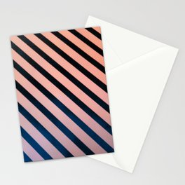 Diagonal Lines Stationery Cards