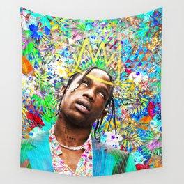 Travis Portrait Artwork Wall Tapestry