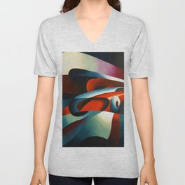 Le forze della curva (the forces of a curve) by Tullio Crali Unisex V-Neck