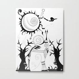 The Snail & The Cat Metal Print