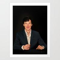 sherlock holmes Art Prints featuring Sherlock Holmes by jht888