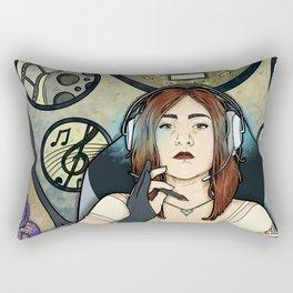 Gamer girl Rectangular Pillow