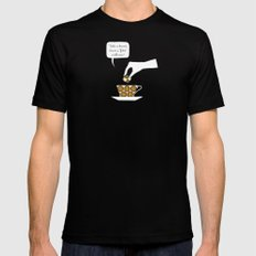 time for fika MEDIUM Black Mens Fitted Tee