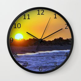 Beach Sunset Wall Clock