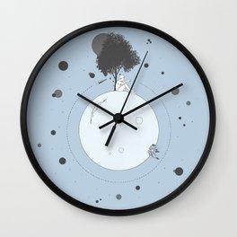 Paper Plane Planet Wall Clock