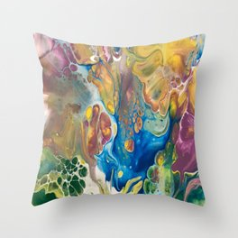 Complimentary Abstract Throw Pillow