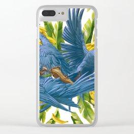 Hyacinth macaws and bananas Stravaganza. Clear iPhone Case