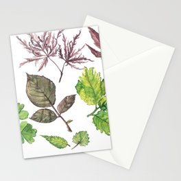 the daily creative project: leaves Stationery Cards