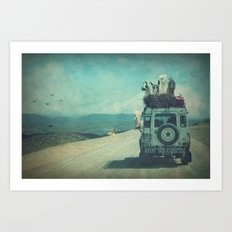 NEVER STOP EXPLORING II Art Print
