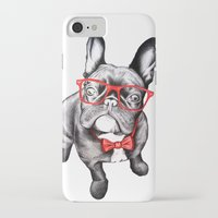 dog iPhone & iPod Cases featuring Happy Dog by 13 Styx
