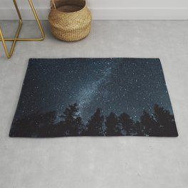 Milky Way in the Woods   Nature and Landscape Photography Rug