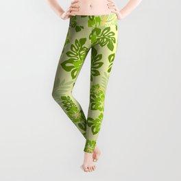 Hawaiian Pattern - Green Leggings