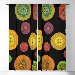 Retro Buttons Blackout Curtain