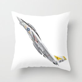 Fighter Squadron 21 (VF-21) Freelancers F-14 Tomcat Illustration Throw Pillow