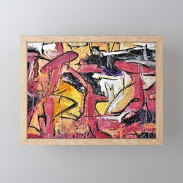 """""""The Garden of Whales"""" (Le Jardin Des Baleines) Abstract Painting Paris Collection Framed Mini Art Print"""