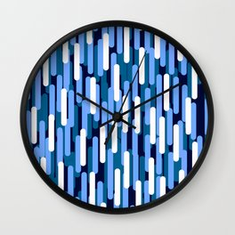 Fast Capsules Vertical Blue Wall Clock