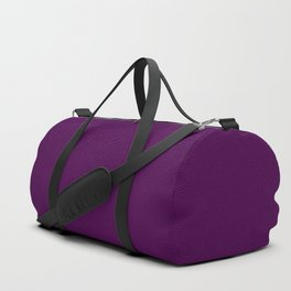 Mini Zombie Purple and Black Horizontal Witch Pin Stripes Duffle Bag