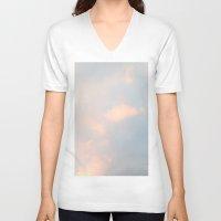 edinburgh V-neck T-shirts featuring edinburgh sky by Cassandra Tavukciyan