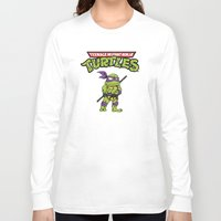 ninja turtle Long Sleeve T-shirts featuring Ninja Turtle by flydesign