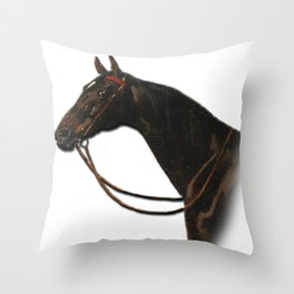 Vintage horse art equestrian decor Throw Pillow