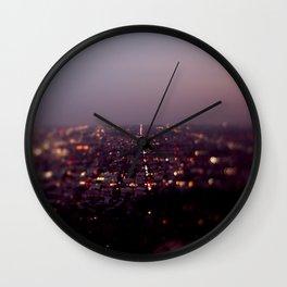 Angel City Lights, L.A. at Night (No. 2) Wall Clock